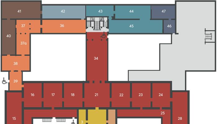Χάρτης χώρων του Μουσείου