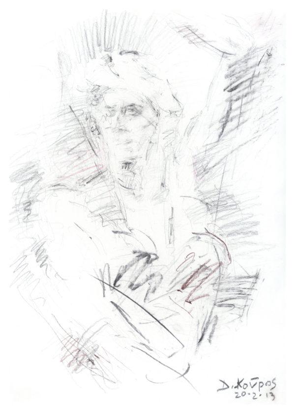 """Έκθεση σχεδίων """"Μέσα από τις σχισμές"""" του Δημητρίου Κούρου στο Καφέ του Μουσείου"""