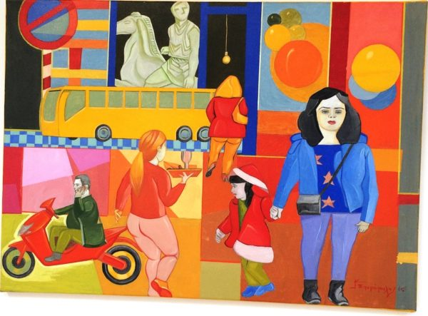 """Έκθεση ζωγραφικής  """"Δρόμοι και αναδρομές"""" του Κώστα Σπυρόπουλου  στο Καφέ του Μουσείου"""