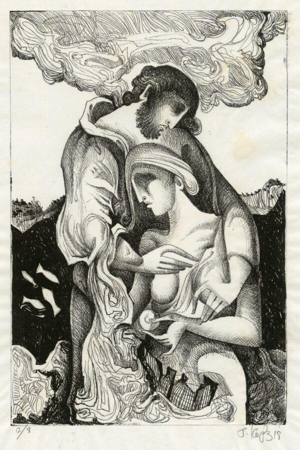 Έκθεση εικαστικών «Κάτι θαμπό με γέννησε» 24 λιθογραφίες του Γιώργου Κόρδη στο Καφέ του Μουσείου